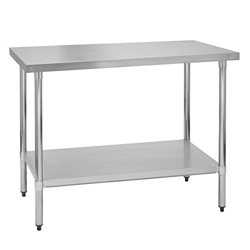 Fenix Sol Stainless Steel Commercial Kitchen Work Prep Table, 30″W x ...