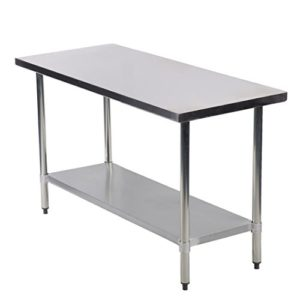 Restaurant Kitchen Prep Tables - 18 x 48 stainless steel work table