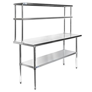 Shelf Kitchen Prep Tables - Stainless steel table top shelves